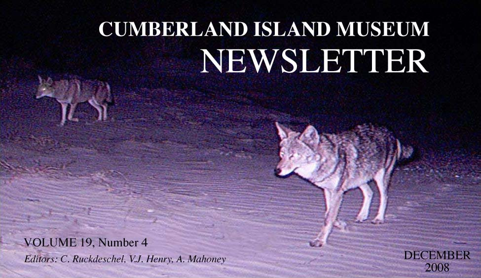 Newsletter letterhead with coyote photo